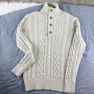 EUC Banana Republic 4 button Cable Sweater